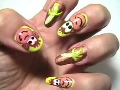 ... nail art animal nails, nail designs, anim nail, nail arts, fun nail