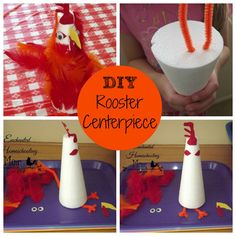 DIY Rooster Centerpiece Cook A Doodle Do Storybook Decorations For Your Family Dinner Table