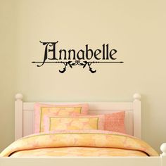 LOVE the look of this peel and stick wall decal for a little girl's room - personalize it to reflect your little girl's name. So sweet :)