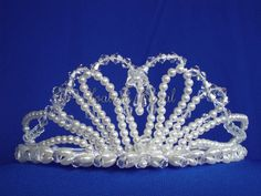 Headpiece Bridal headpiece Pearl & Crystal Tiara  by Hoalanebridal, #weddings #prom #bride