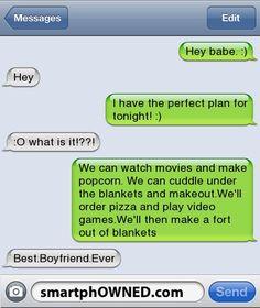 Best. Boyfriend. Ever.