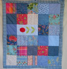 Blue Patchwork Baby Blanket/Quilt