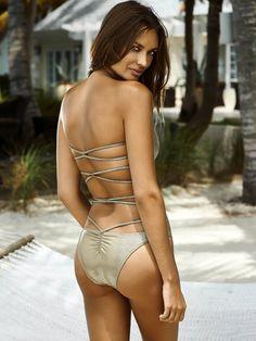 PilyQ: Amazing one-piece swimsuit with criss cross back | Swimwear World