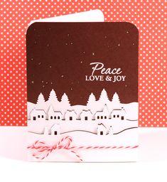 Christmas card using Martha Stewart punch