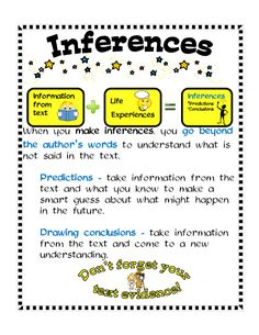 check out the link on inferences to use