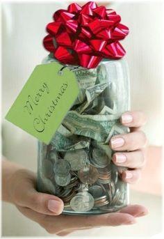christma jar, christmas time, gift, christmas jars, famili, money, christma time, christmas eve, mason jars