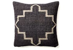 Kilim 20x20 Wool-Blend Pillow, Black on OneKingsLane.com