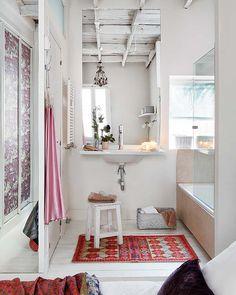 interior, dream bathrooms, apartment makeover, kid rooms, small bathrooms, white bathrooms, sweet home, mirrored walls, cottage bathrooms
