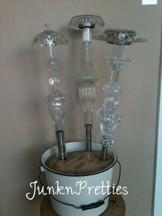 Solar Lights from Upcycled Glass