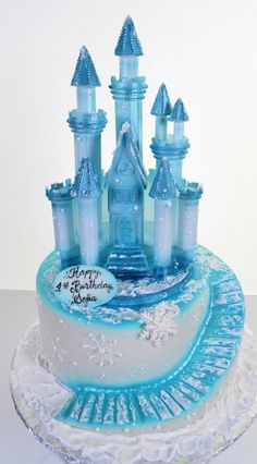 frozen movie cake ideas ice castle | birthday cakes 1533 blue ice castle this castle might have been built ...