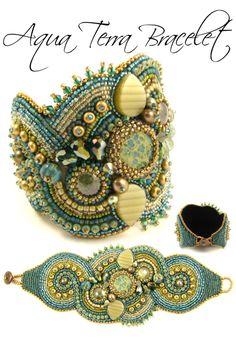 bead embroidery bracelet design