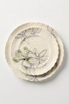 imagined iris dinnerware...