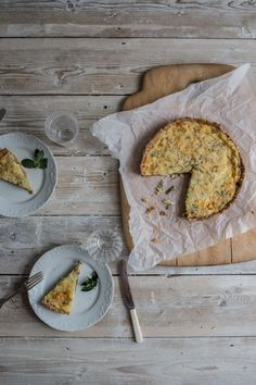 Asparagus, Pecorino and Mint Tart with a Flaky Spelt Pastry Crust - From My Dining Table