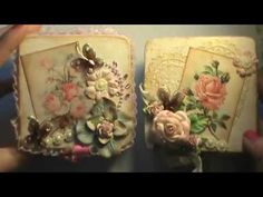 Shabby Chic Altered wooden trinket boxes for my nieces