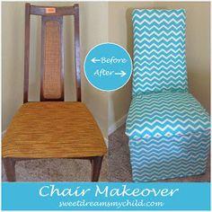 diy chevron, chair makeover, chevron chair