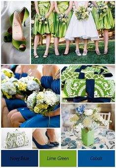 Lime Green and Blue Wedding theme by angelia