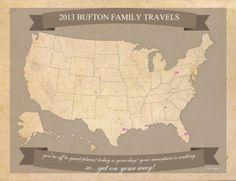 Free printable US Travel Map
