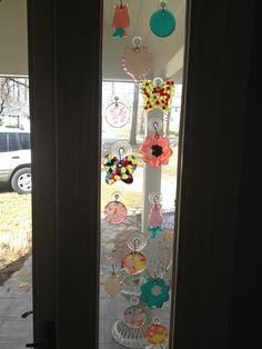 suncatchers melt beads at 450 degrees for 20 minutes.  I used cookie cutters for the design great summer project must try! :: ecrafty