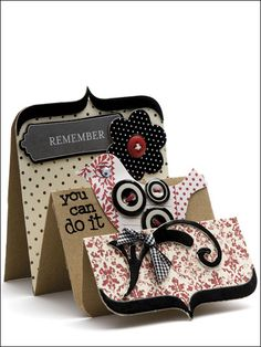 scrapbooking with button, I will try to design a template to make this card.