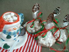 Chocolate Spoons with Hot Chocolate Mix