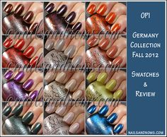 Review: OPI Germany Collection Fall 2012