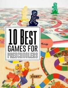 10 best games for preschoolers! Great list!