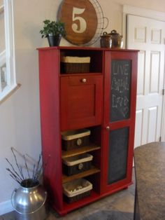 Home Frosting: Barn Red Cabinet red cabinet