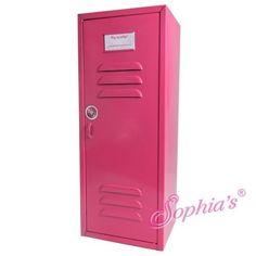 Hot Pink Metal Doll Locker Fits American Girl Dolls
