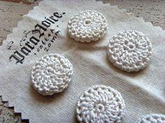 handmade crochet buttons