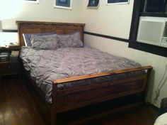 my new bed with west elm bedding.  LOVE IT