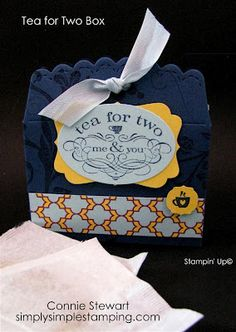 Tea Holder - SIMPLY SIMPLE STAMPING with Connie Stewart: Stampin' Up Convention Swaps