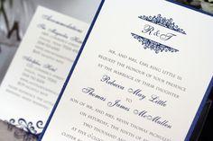Navy Blue & White Winter Wedding