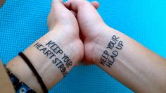 Wrist quote tattoos