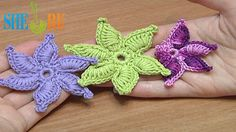 How To Crochet Flower Thick Petals With Picot Tutorial 45 (+playlist)