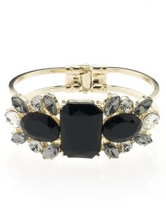 M&S Collection Jewel Embellished Diamanté Cuff Bracelet