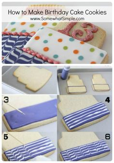 cooki tutori, cooki decor, birthdays, cookie tutorial, birthday cookies, cake & cookies, birthday cake cookies, cake recipes, birthday cakes