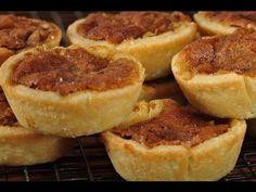 Butter Tarts Recipe & Video - Joyofbaking.com *Video Recipe* pie crusts, tart recipes, pecan pies, butter tart