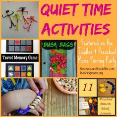 Teaching Mama: Quiet Time Activities for Kids & Pinning Party #47. Pinned by SOS Inc. Resources. Follow all our boards at pinterest.com/sostherapy/ for therapy resources.