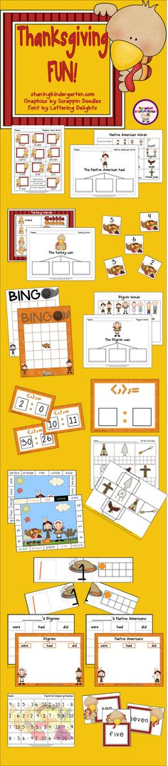 Thanksgiving FUN activities... you and your students are going to LOVE this!