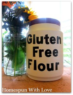 Gluten Free Flour - brown rice flour, potato starch!, tapioca flour/starch.  (So why did I but all those other types of flour, too?)