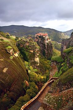 Varlaam monastery from the Great Meteoro - Meteora, Trikala.