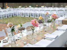 floral arrang, floral decor, glass, simpl floral