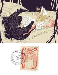 Libretto Postale, animali in viaggio (collective exhibition) #illustration