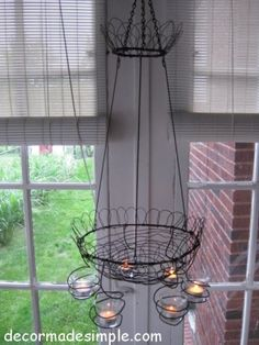 good way to use those old wire clothes hangers