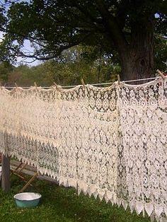 Vintage washing line