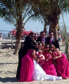 The Jersey Shore is back! This is a wedding I had the honor to officiate on the beach at Jenkinson's in Point Pleasant Beach June 3, 2013