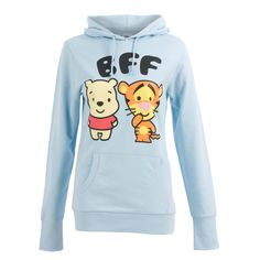 Play.com - Buy Disney Cuties Winnie The Pooh Women's BFF Hoodie (Light Blue) online at Play.com and read reviews. Free delivery to UK and Europe!