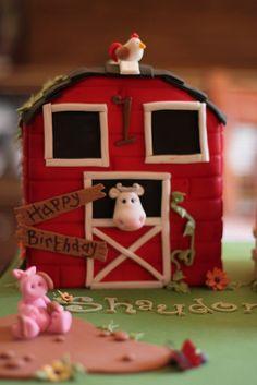 Barn cake by Andrea's SweetCakes, via Flickr