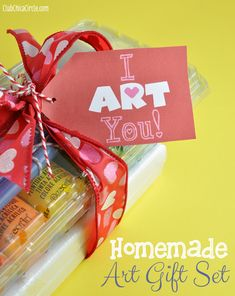 Homemade art gift set