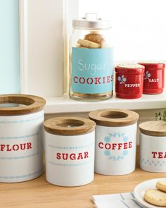Keep your countertops in style with these easy-to-make customized kitchen containers